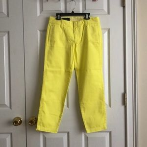 """J.Crew Scout Neon Yellow Chinos 26"""""""
